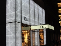 Dior - 57th Street - LED Light Panels brightly backlit all sides of the storefront illuminated