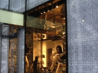 Dior - 57th Street - Close-up of storefront windows and adjacent lit facade panels - id: 126