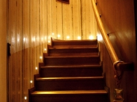 integrated LED step lights ensure safe passage to the upper floor at night even in low lighting presets - id: 226
