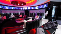 Rock & Republic lounge lighting design LED with color changing LEDs